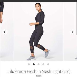 Lululemon fresh in mesh tight 6